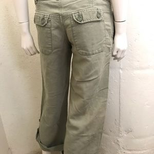 French Connection green cropped pants